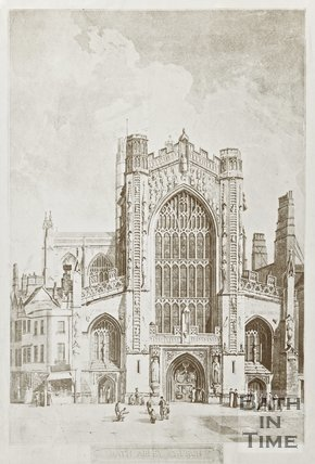 of Engraving of Bath Abbey 1822