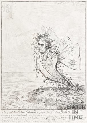 The Great South Sea Caterpillar Transformed into a Bath Butterfly July 4th 1795