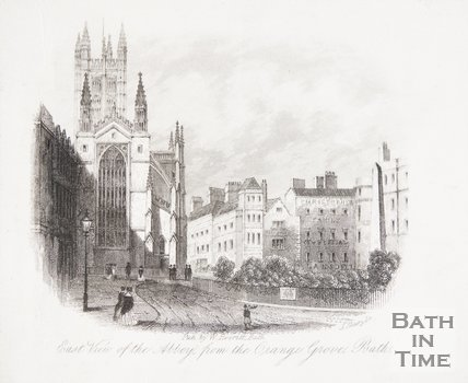 East View of the Abbey from the Orange Grove, Bath 1848
