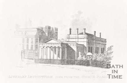 Literary Institution seen from the North Parade 1818