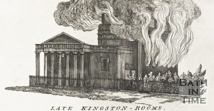 The Kingston Assembly Rooms on fire 1822