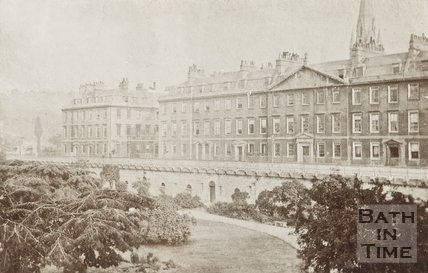 Early photograph of North Parade, c.1870