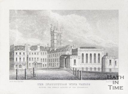 The Institution Wine Vaults (Extends the whole length of the engraving) 1824