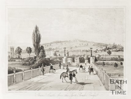 Sham Castle from North Parade Bridge 1850