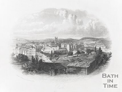 View of Bath from Bathwick Hill, 1840