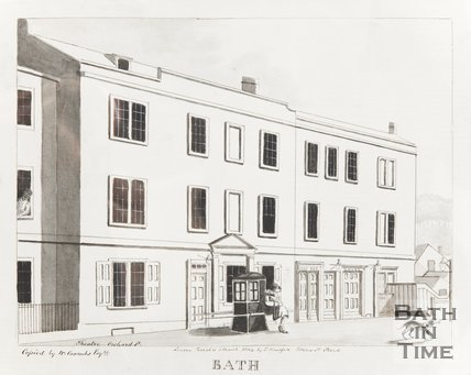 Copy of Engraving, Theatre in Orchard Street, Bath March 1st 1804