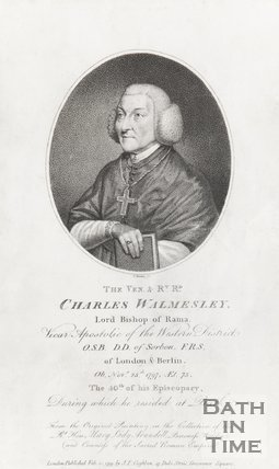 Portrait of the Ven. And Rt. Rd. Charles Walmesley Lord Bishop of Walmer, November 25th 1797 at 75.