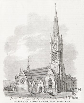 St. Johns Roman Catholic Church, South Parade Bath August 6th 1864