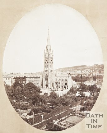 Photograph of St. John the Evangelist church, c.1870