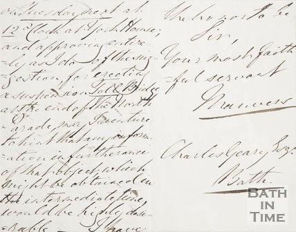 Verso of Letter to Postmaster Charles Geary Esq. from Manvers, July 11th 1834
