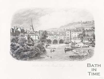 View from the North Parade Bridge, Bath 1853