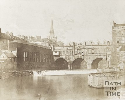 Photograph of Pulteney Bridge, Bath c.1850