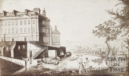 Photograph of copy of sketch View of Old ferry at South Parade c.1747