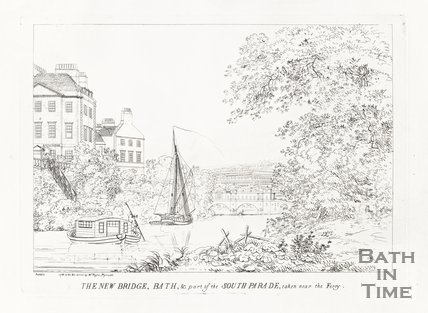 The New Bridge (Pulteney Bridge) and part of the South Parade 1788