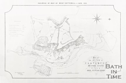 Facsimile of Map by Messrs Cotterell & Son (Surveyors), 1846