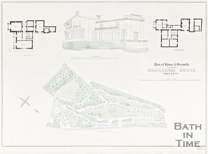 Plan of House and Grounds Smallcombe Grove, Near Bath