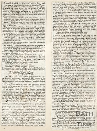 Bath Illuminations, July 7th 1814