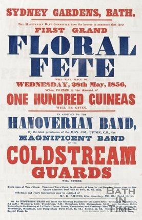 Poster Floral Fete 1856