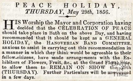 Peace Holiday, May 29th 1856
