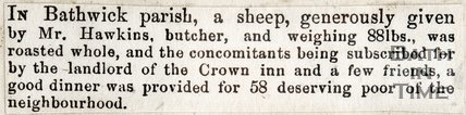 Sheep Donation for the Peace Celebration, 1856