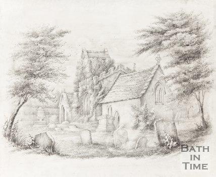 Claverton Church and Graveyard near Bath
