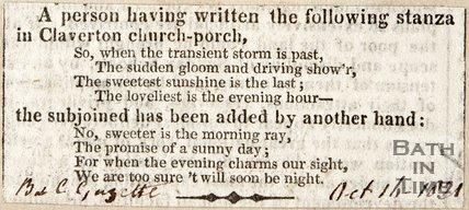 Claverton Church Porch, October 16th 1821