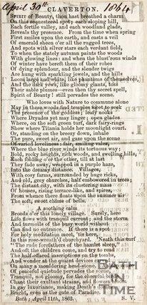 Claverton April 30th 1864