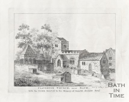 Claverton Church Near Bath with tomb erected to commemorate Ralph Allen Esq.