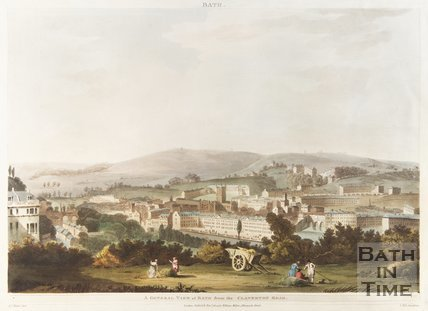 General View of Bath from Claverton Road, 1804