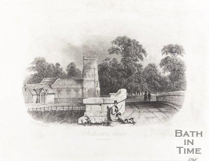 Bathampton Church Near Bath 1845