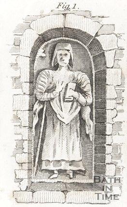 Figure in East Outside Wall of Hampton Church 1804