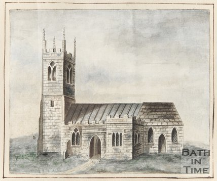 Watercolour of Bathampton Church