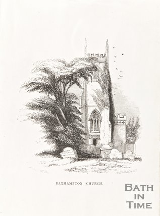 Engraving Bathampton Church, 1806
