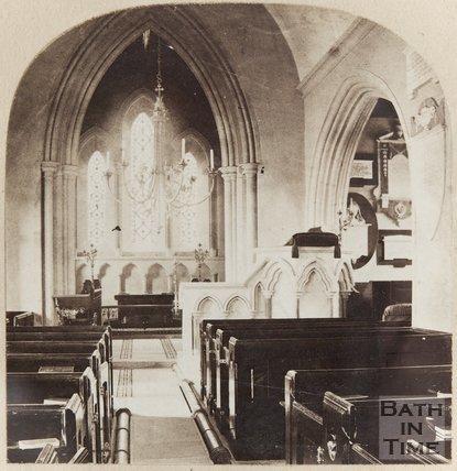 Photograph of Bathampton Church Interior, c.1870