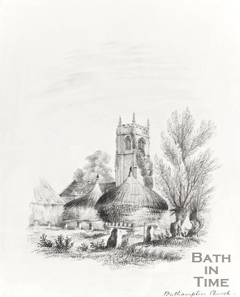 Pencil Sketch Bathampton Church