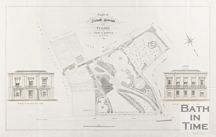 Plan of Freehold Mansion called Vellore in the Parish of Bathwick 1858