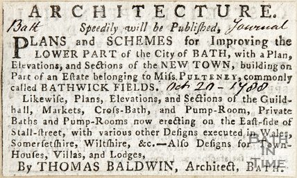 Bathwick Architecture, speedily will be published October 20th 1788
