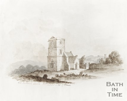 Watercolour Old Bathwick Church 1814