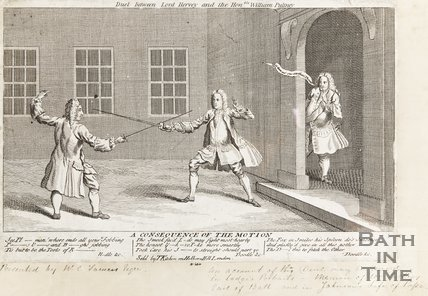 Duel between Lord Hervey and Hon. William Pulteney