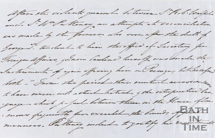 Handwritten account political dealings and advancement of Sir William Pulteney