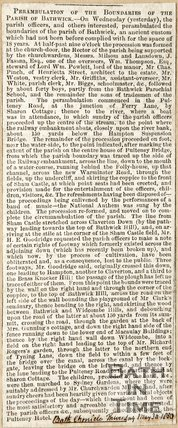 Perambulations of the boundaries of the parish of Bathwick. May 30th 1850