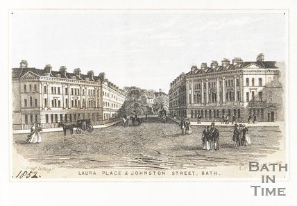 Laura Place and Johnston Street Bath 1852