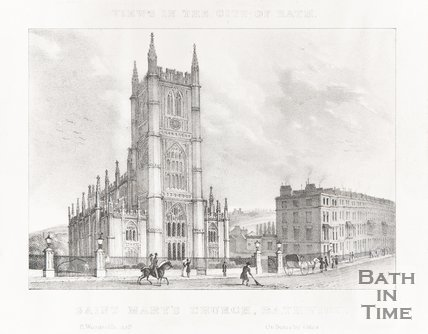 View in the City of Bath St. Marys Church Bathwick 1830