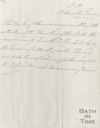 Letter To the Duke of Clarence November 5th 1817