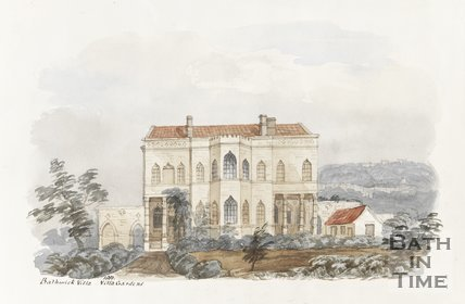 Bathwick Villa and Villa Gardens 1851