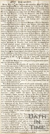 Description of Queen Charlotte's visit to Bath 1817