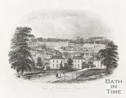Camden Place from Bathwick Park 1844