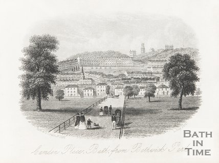 Camden Place from Bathwick Park 1854