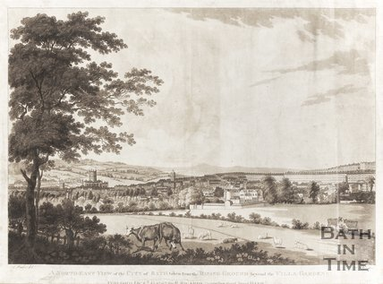 North East View of the city of Bath taken from the Villa grounds 1787