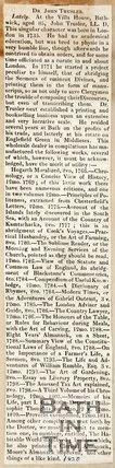 Obituary Dr. John Trusler 1820